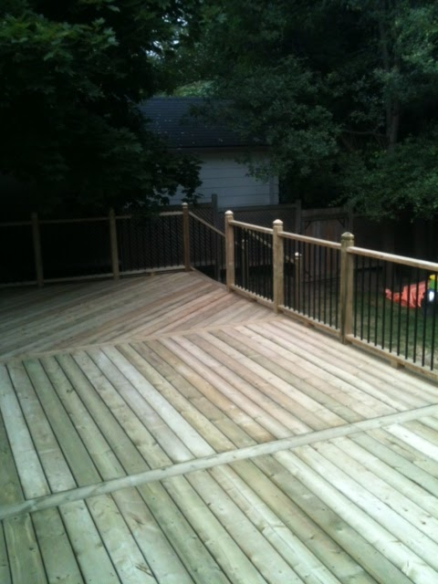Pressure-Treated Deck, with Distinct Design