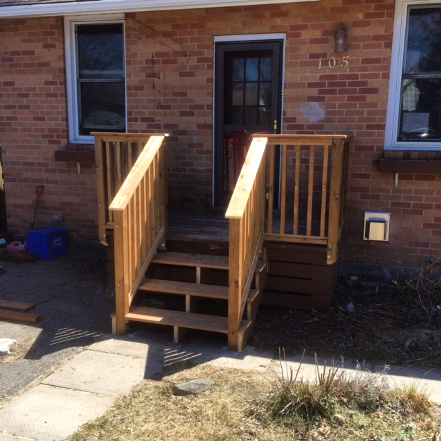 Pressure-Treated Front Porch/Deck