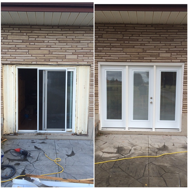 Removal and replacement of steel door