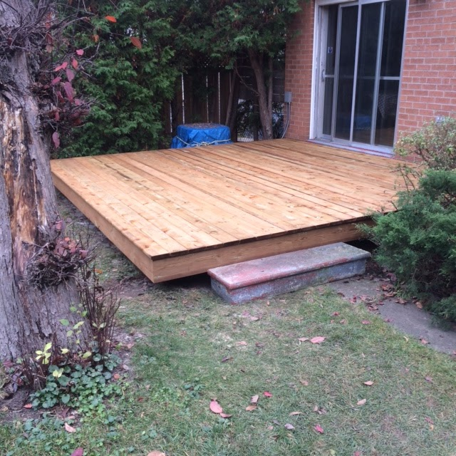 Pressure-Treated Deck