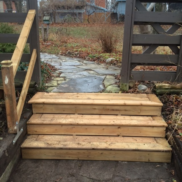 Custom Pressure Treated Stairs