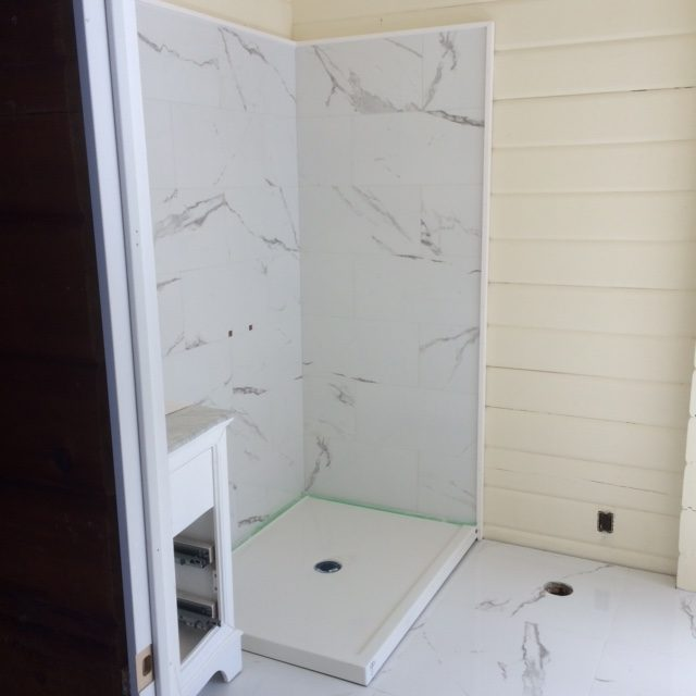 Large Tile Shower & Floor